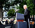 SECDEF delivers remarks during a memorial service at the Marine Barracks. (9886375983).jpg