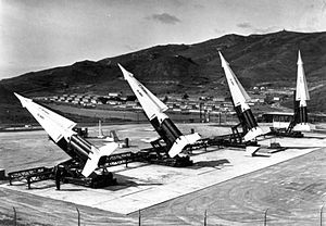 Fort Cronkhite - SF-88 Nike Missiles with Fort Cronkhite visiable, circa 1959.