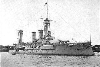 SMS Kurfürst Friedrich Wilhelm - Kurfürst Friedrich Wilhelm at anchor circa 1903