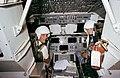 STS-2 backup Crewmen Lousma and Fullerton in the bldg 5 Shuttle simulator.jpg