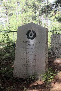 Photo of William T. Sadler black plaque