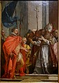 Saint Ambrose denies Theodosius entry to the church, by Giovanni Domenico Tiepolo, 1751 - Mainfränkisches Museum - Würzburg, Germany - DSC04571.jpg