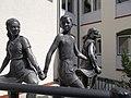Saint Benedict's Roman Catholic School. Sculptures in the yard. - Budapest, 11th district. Albertfalva. Mezőkövesd Rd., 10..JPG