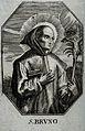 Saint Bruno. Line engraving. Wellcome V0031751.jpg