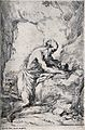 Saint Jerome. Etching by G. Reni after himself. Wellcome V0032281.jpg