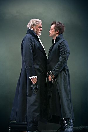 The Prince of Homburg (play) - Peter Simonischek as Kurfürst and August Diehl as Homburg, Salzburg Festival 2012