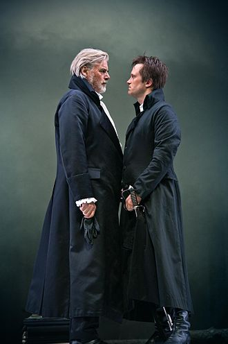 The Prince of Homburg (play) - Peter Simonischek as Kurfürst and August Diehl as Homburg, Salzburg Festival 2012