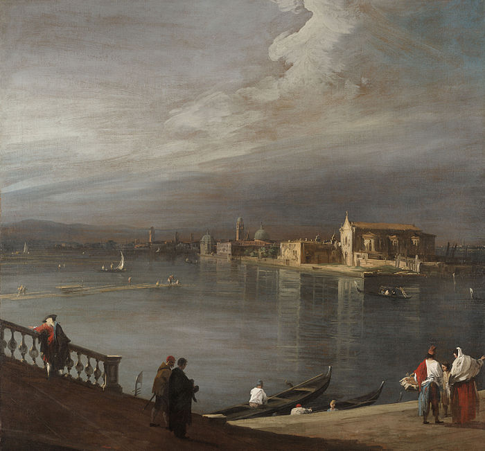 San Cristoforo, San Michele, and Murano from the Fondamenta Nuove, Venice (1722)