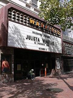 Warfield Theatre music venue, former theater and movie theater, in San Francisco, California