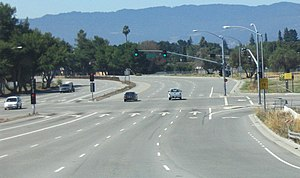 California County Routes in zone G - San Tomas Expressway at Monroe Street