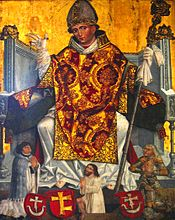 Saint Stanislaus of Krakow, painting from the 16th century