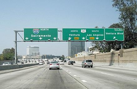 The Sango Freeway Near The Interchange With The Ventura Freeway U S Route 101