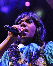 Santigold performing in Boston, 2012