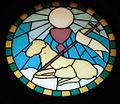 Santo Stefano primo martire, vetrata (Santo Stefano di Cadore).JPG