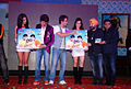 Sarah Jane Dias, Riteish Deshmukh, Tusshar Kapoor, Neha Sharma, Daler Mehndi at the Audio release of 'Kyaa Super Kool Hain Hum' 01.jpg