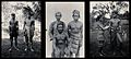Sarawak; a Kayan and Sea Dayak tribesman, three Land Dayaks, Wellcome V0037467.jpg