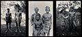 Sarawak; a Kayan and Sea Dayak tribesman, three Land Dayaks, Wellcome V0037467.jpg