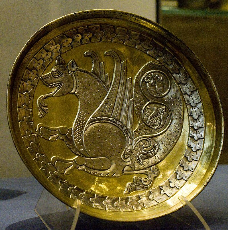 Sassanid silver plate by Nickmard Khoey.jpg