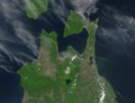 Satellite image of Aomori, Japan in May 2001