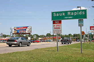 Sauk Rapids, Minnesota - Image: Sauk rapids sign