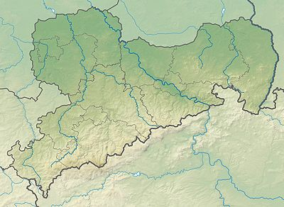 Location map Germany Saxony