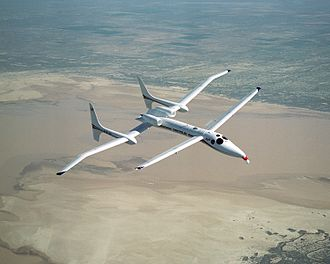 Scaled Composites Proteus - Image: Scaled Composites Proteus in flight 1