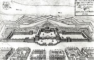 University of Mannheim - Layout of the Mannheim Palace in 1725