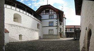 Laupen Castle - The interior courtyard of the castle