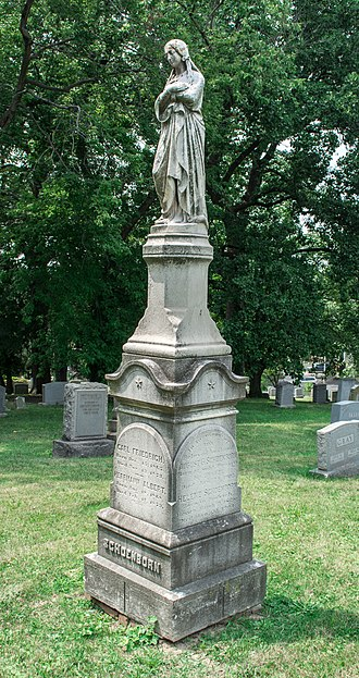 August Schoenborn - Grave of August Schoenborn at Prospect Hill Cemetery in Washington, D.C.