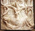 Scultore del nottinghamshire, madonna col bambino e il tronco di jesse, xv secolo, alabastro con tracce di dorature 02.JPG
