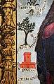 Scuola ligure, immacolata concezion e santi, xvi secolo, dalla ss. annunziata a savona, 07 maria tra attributi mariani 03 oliva speciosa e torre.jpg