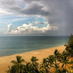 Sea view of Kuala Terengganu