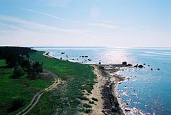 The coastline in Nõva.