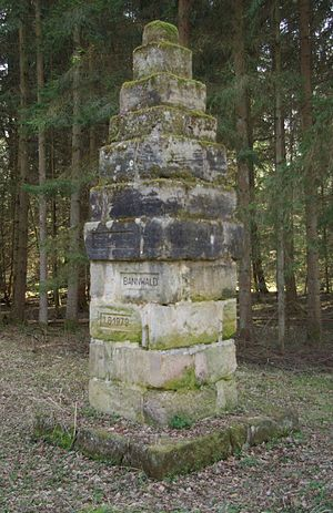 Bannwald - Banned forest monument in the imperial forest of Nuremberg