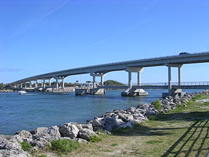Sebastian Inlet Bridge - Image: Sebastian inlet bridge