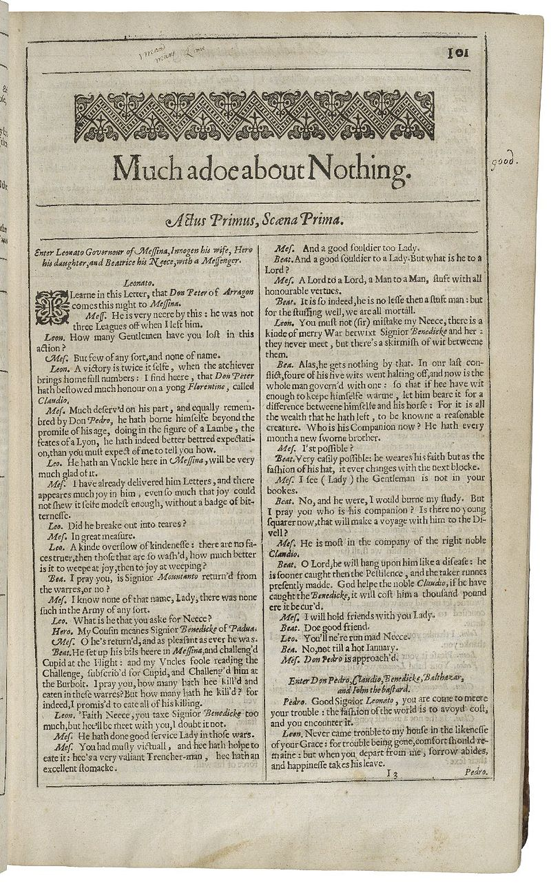 Second Folio Title Page of Much Ado About Nothing.jpg