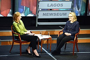 Leigh Sales - Sales hosting a Global Town Hall with Hillary Clinton (January 2013)