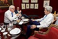 Secretary Kerry Sits With German Foreign Minister Steinmeier Before Bilateral Meeting in Paris Following French-Hosted Syria Forum (26327544813).jpg