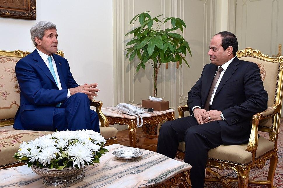 Secretary Kerry with President al-Sisi July 2014