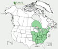 Sedum ternatum NA-dist-map.png
