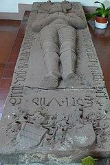 gisant de Sébastien de Fleckenstein à Seltz