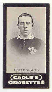 Selwyn Biggs Welsh rugby union player