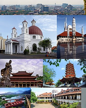 Semarang - From top, left to right: