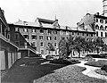 Seminary Gardens near Notre Dame Church, Montreal, QC, about 1890.jpg