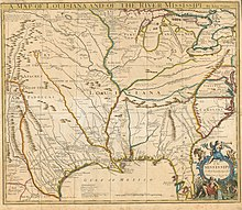 Senex A map of Louisiana and of the River Mississipi 1721 UTA.jpg