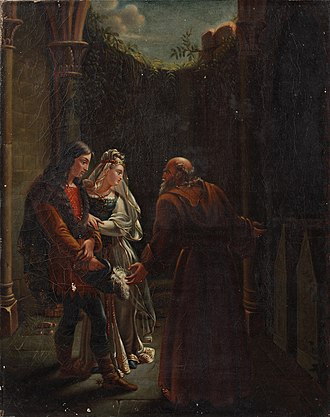 Tristan and Iseult - Geneviève and Lancelot at the Tombs of Isolde and Tristan by Eugénie Servières