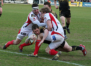 Shane Williams - Williams scores a try for the Ospreys away to Ulster in April 2010.