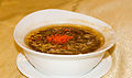 Shark fin soup with crab sticks and fish eggs, Holiday Restaurant, Semarang, 2014-06-19.jpg