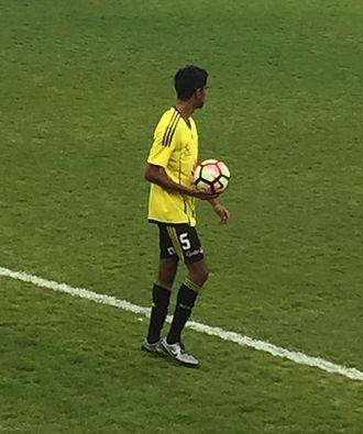 Shayne D'Cunha - D'Cunha playing for Wellington Phoenix in 2016