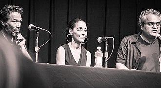 Shirin Neshat - Shoja Azari, Shirin Neshat and Babak Payami at Tirgan Festival, 2013